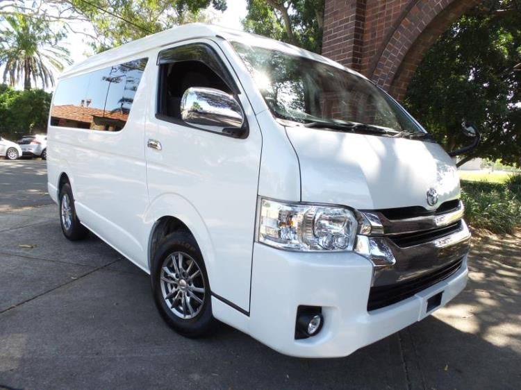 2015 Toyota Hiace 10 seater GL VIP LWB Low Roof Wide Body
